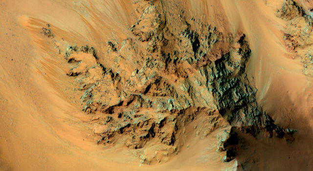 Seasonal Flows in the Central Mountains of Hale Crater