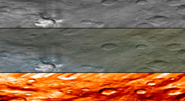 This image, from Dawn's visible and infrared mapping spectrometer (VIR), highlights a bright region on Ceres known as Haulani, named after the Hawaiian plant goddess