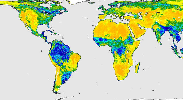 A three-day composite global map of surface soil moisture as retrieved from SMAP's radiometer instrument