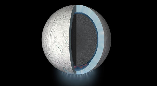 This daring flyby will bring the Cassini spacecraft within 30 miles (48 kilometers) of Enceladus' south pole.