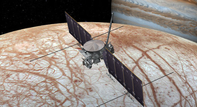 This artist's rendering shows NASA's Europa mission spacecraft.