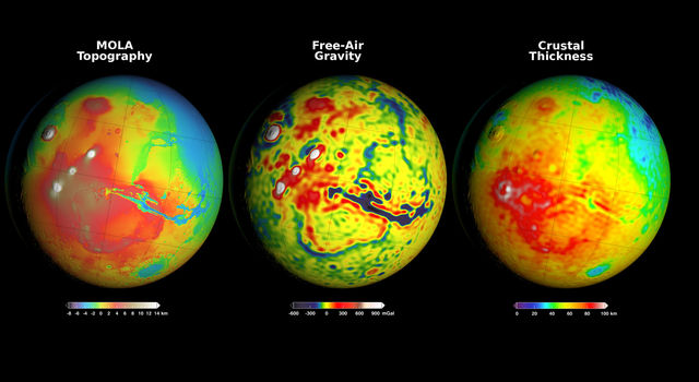 Using Gravity and Topography to Map Mars' Crustal Thickness