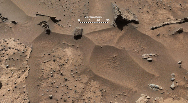 Knobbly Textured Sandstone on Mount Sharp, Mars