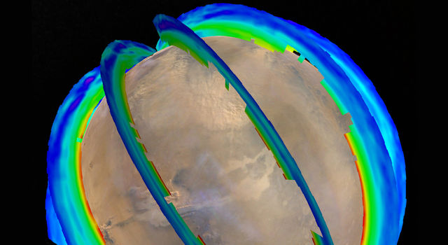 Mars Atmospheric Temperature and Dust Storm Tracking
