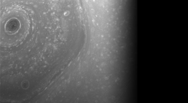 Over Saturn's Turbulent North