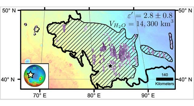 Subsurface Water-Ice Deposit in Utopia Planitia, Mars