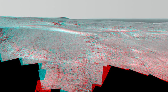 Opportunity Panorama of 'Rocheport' on Mars (Stereo)
