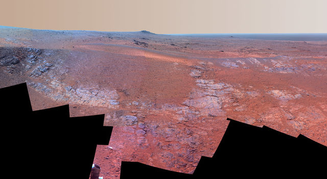 Panorama of 'Rocheport' on Mars (Enhanced Color)