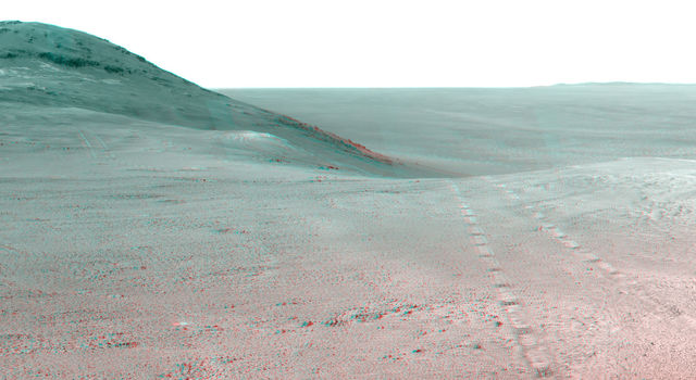 Panorama Above 'Perseverance Valley' on Mars (Stereo)