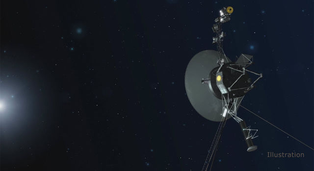 An artist concept depicting one of the twin Voyager spacecraft. Humanity's farthest and longest-lived spacecraft are celebrating 40 years in August and September 2017. Image credit: NASA/JPL-Caltech<br /><a href=