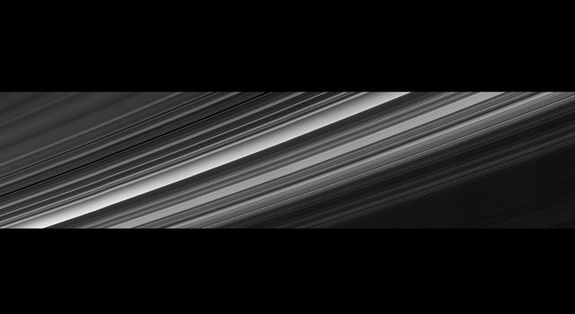 Cassini obtained this panoramic view of Saturn's rings on Sept. 9, 2017
