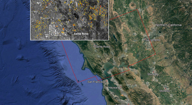 NASA Damage Map Aids Northern California Wildfire Response