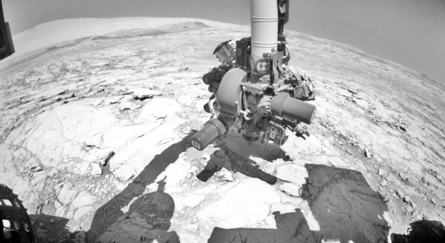 NASA's Curiosity Mars rover conducted a test on Oct. 17, 2017.