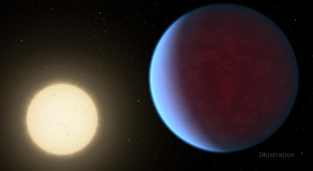 Artist's Illustration of exoplanet 55 Cancri e
