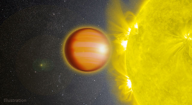 Artist's illustration of a hot Jupiter