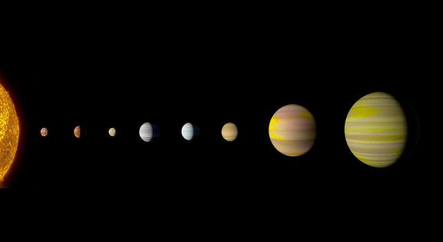 Artist's concept of Kepler-90 system