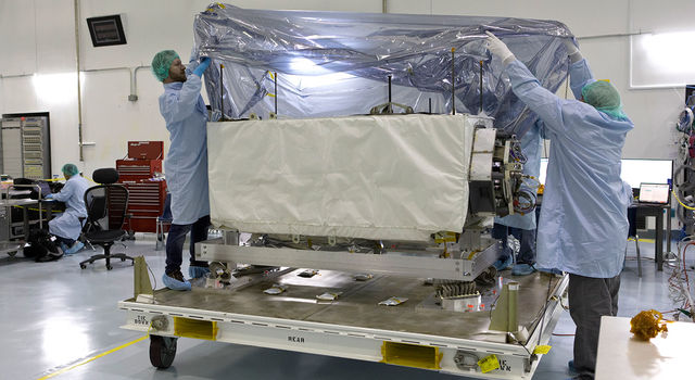 slide 1 - ECOSTRESS arrives at Kennedy Space Center in preparation for launch to the space station this summer