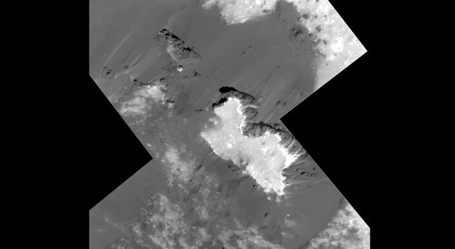 Mosaic of a prominent mound located on the western side of Cerealia Facula was obtained by NASA's Dawn spacecraft on June 22, 2018 from an altitude of about 21 miles (34 kilometers).