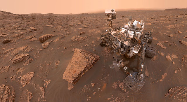 A self-portrait taken by NASA's Curiosity rover
