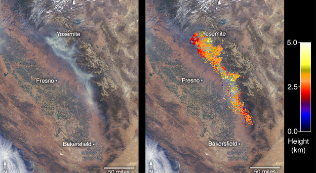 Ferguson Fire near Yosemite National Park on July 29
