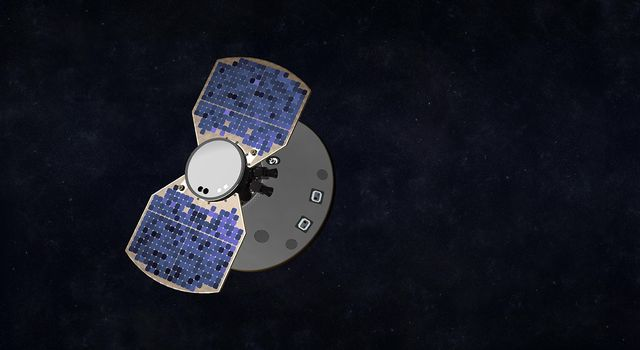 Artist's concept shows the InSight spacecraft