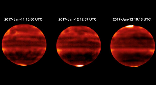 Infrared image of Jupiter's atmosphere