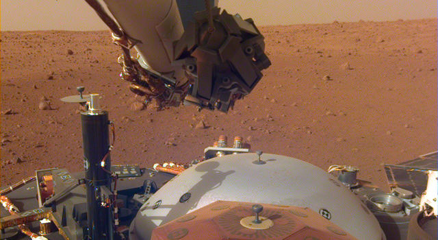 This image from InSight's robotic-arm mounted Instrument Deployment Camera