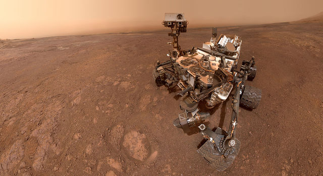 A selfie taken by NASA's Curiosity Mars rover on Sol 2291