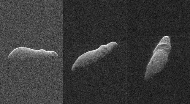Three radar images of near-Earth asteroid 2003 SD220