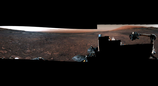 Panorama from the Mast Camera (Mastcam) on NASA's Curiosity Mars rover