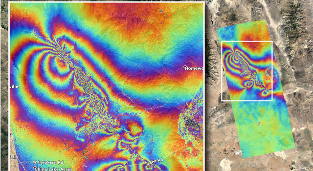 Co-seismic Interferometric Synthetic Aperture Radar (InSAR) map