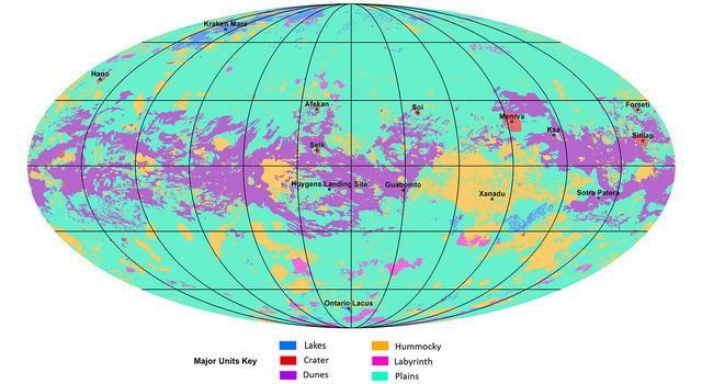The first global geologic map of Titan
