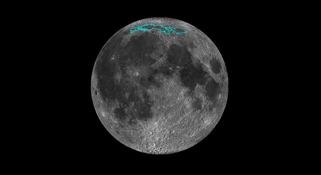 New surface features of the Moon