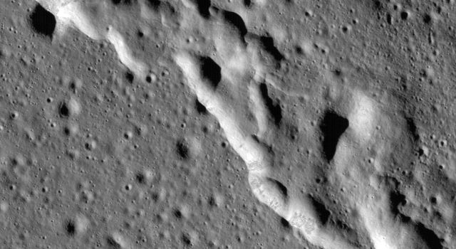 Scientists have discovered these wrinkle ridges in a region of the Moon