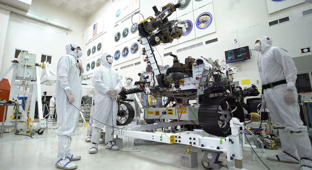 Clean room of the Spacecraft Assembly Facility at JPL