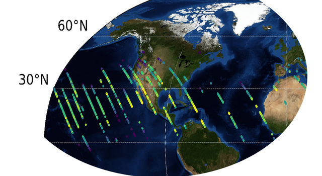 Data map from OCO-3