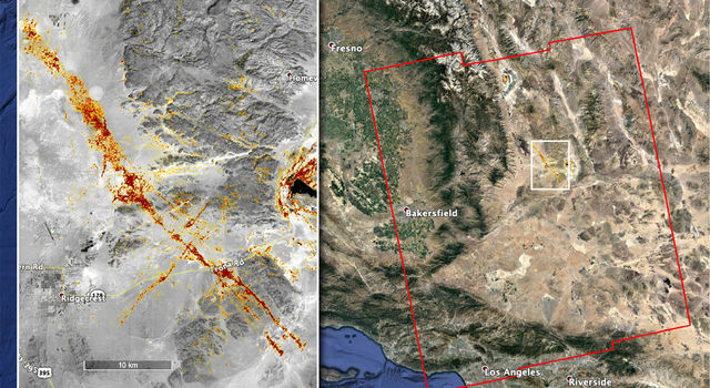 map of earthquake damage in Southern California