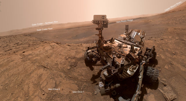 NASA's Curiosity rover took this selfie on Oct. 11, 2019