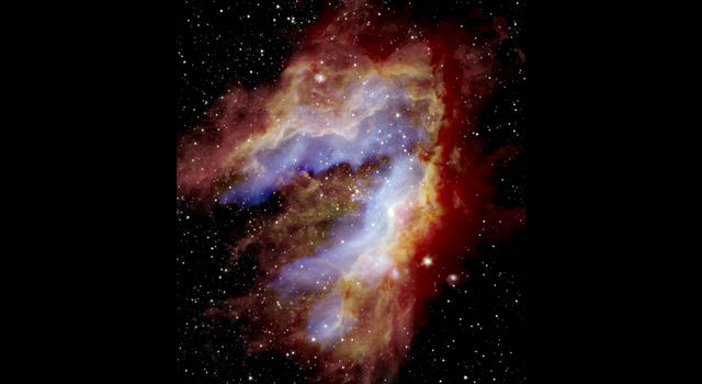 Composite image of the Omega, or Swan, Nebula