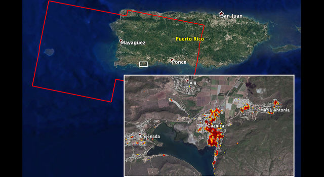 NASA's ARIA team mapped damage in southwestern Puerto Rico