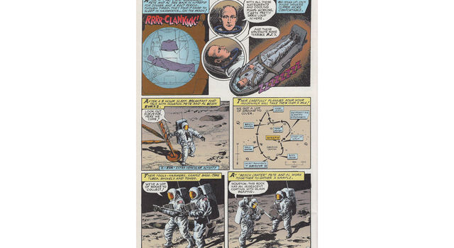 A graphic novel chronicling the historic flight of Apollo 12