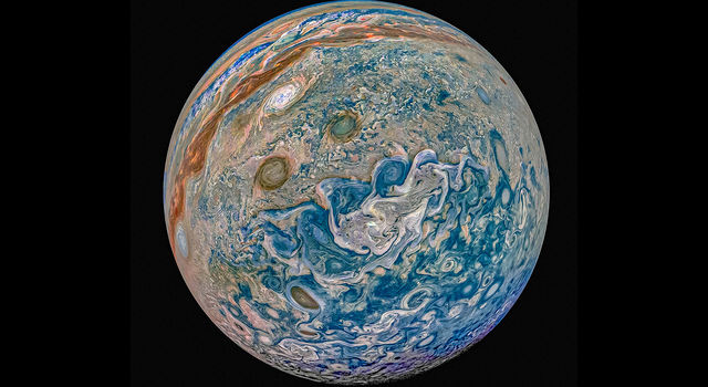Jupiter with enchanced colors