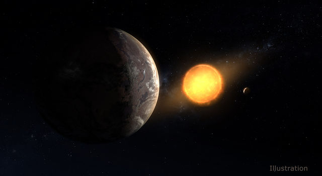This artist's concept shows what exoplanet Kepler-1649c could look like