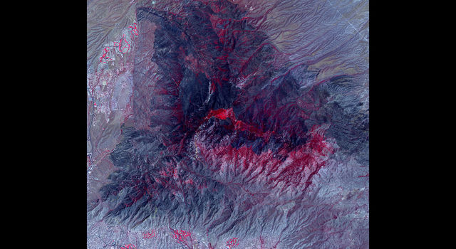NASA's ASTER Sees Arizona's Bighorn Fire Burn Scar From Space