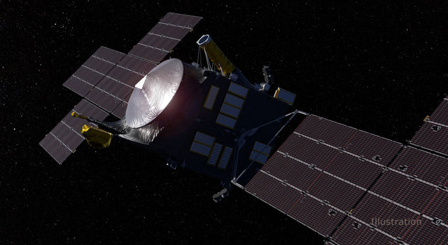 This artist's concept, updated as of June 2020, depicts NASA's Psyche spacecraft