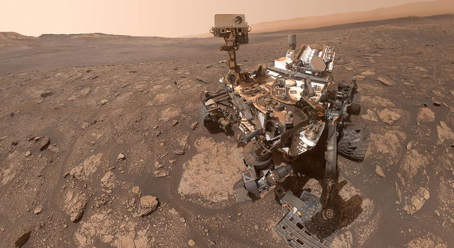 NASA's Curiosity Mars rover took this selfie at a location nicknamed