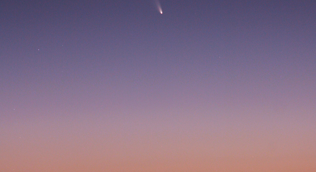 Comet C/2011 L4 PANSTARRS as seen from Mount Dale, Western Australia.