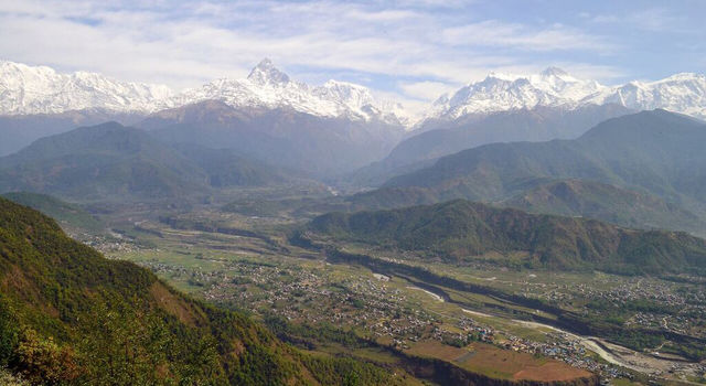 The Annapurna Massif thrones above the city of Pokhara