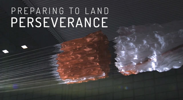 Preparing to Land Perseverance title card