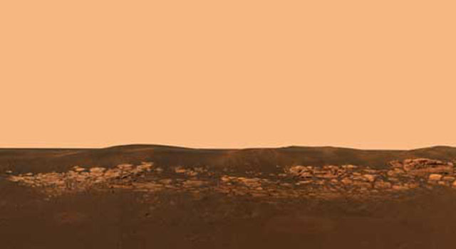 rock outcrop near Opportunity